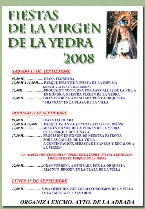 Fiestas de la Virgen, 2008