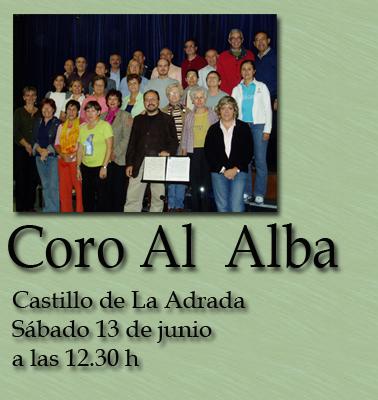 Actuación del coro AL ALBA