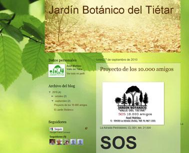Nueva página del Jardín Botánico