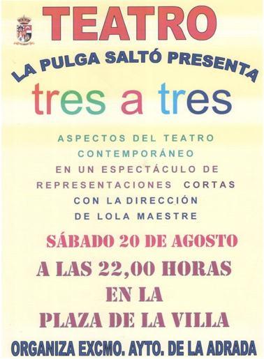 """La Pulga saltó presenta """"Tres a tres"""""""
