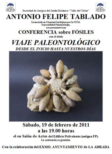 Conferencia sobre fósiles