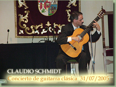 Concierto de Claudio Schmidt