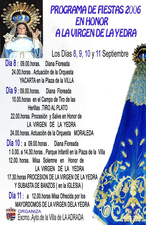 Fiestas de la Virgen, 2006