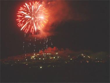 Fuegos artificiales por San Blas