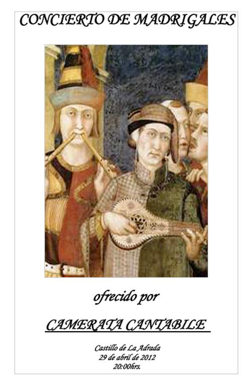 Concierto de Madrigales, La Adrada 2012