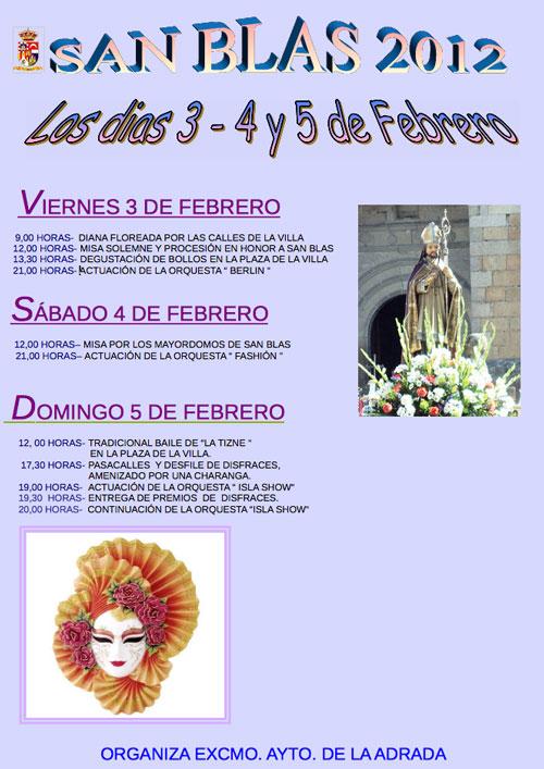 Fiestas de San Blas, 2012