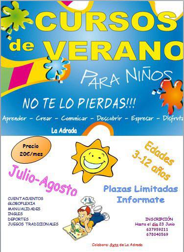 Cursos de verano para niños, en La Adrada