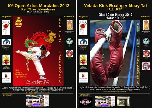La Adrada en el 10º Open de Artes marciales 2012 y en la 1ª Velada A.J. KTF