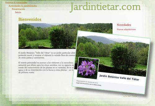 El Jardín Botánico de La Adrada estrena dos nuevas paginas en Internet