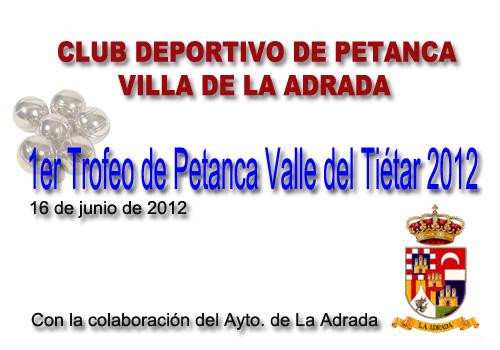 Primer Trofeo de Petanca Valle del Tiétar 2012
