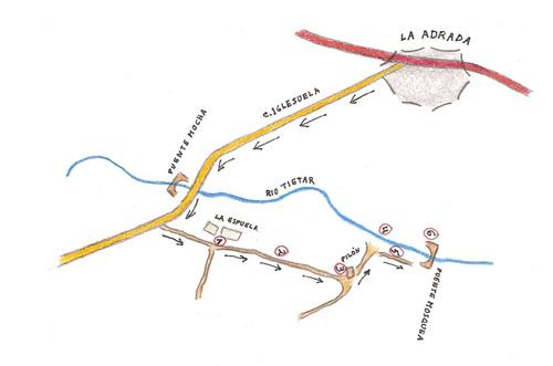 Nueva ruta, esta vez hacia el puente Mosquea