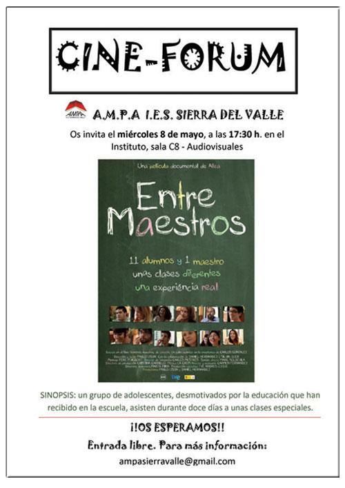 Cine-Fórum en  el IES Sierra del Valle de La Adrada