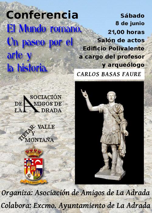 Conferencia sobre el mundo romano, en La Adrada