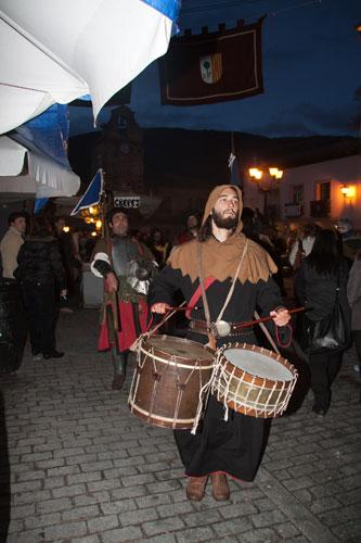 Animación en el XI mercado medieval de La Adrada