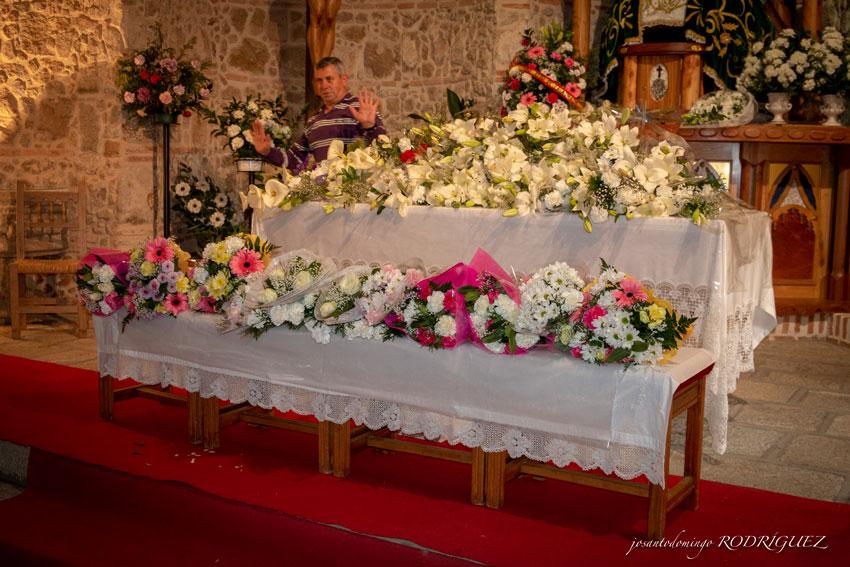 Ofrenda floral a la Virgen de la Yedra