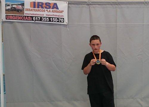 Medalla de oro para Samuel