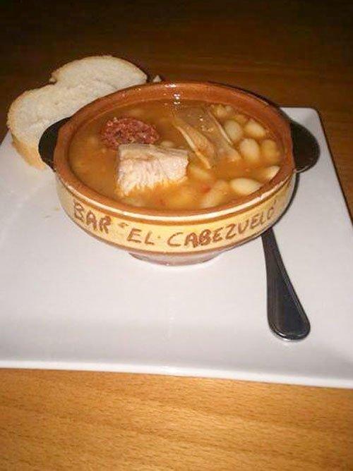 Judías con oreja- Bar El Cabezuelo