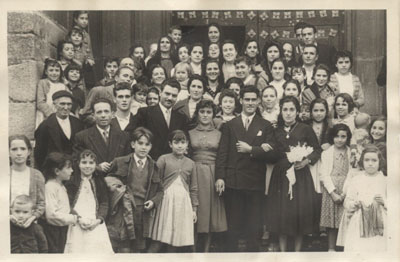 Boda de Gerardo Caminero con toda la familia