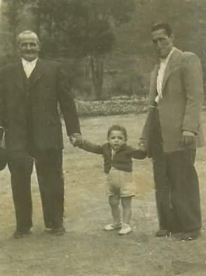 El abuelo Juan Lanchas Fausto y Faustino. Años 50.