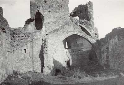 El castillo en 1955.