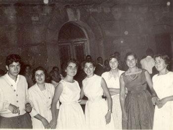 En la Plaza. Años 60.
