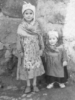 Josefa y Teresa Cuerva. Años 50.