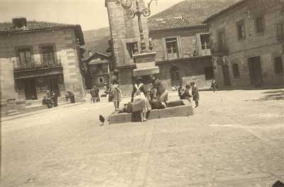 La plaza. Año 1955.