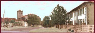 Vista de la Iglesia Año 1965 - (Foto coloreada por José Miguel Sánchez Lanchas).