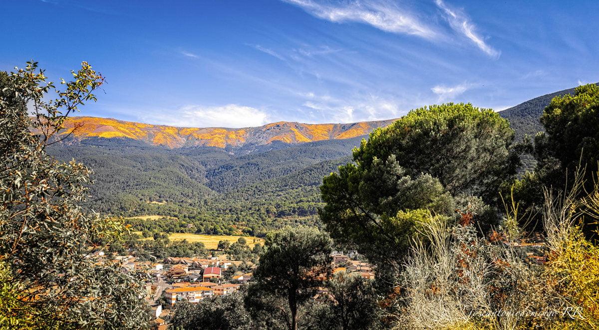 Vista de la sierra desde La Adrada