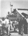 Procesión El Salvador a principios de los sesenta.